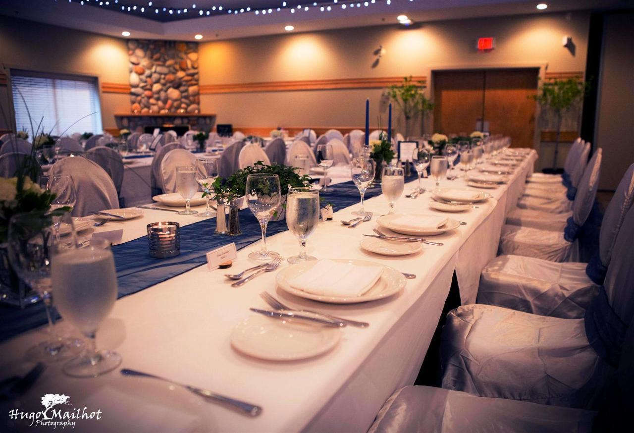Wedding Banquet Setup at Tigh-Na-Mara