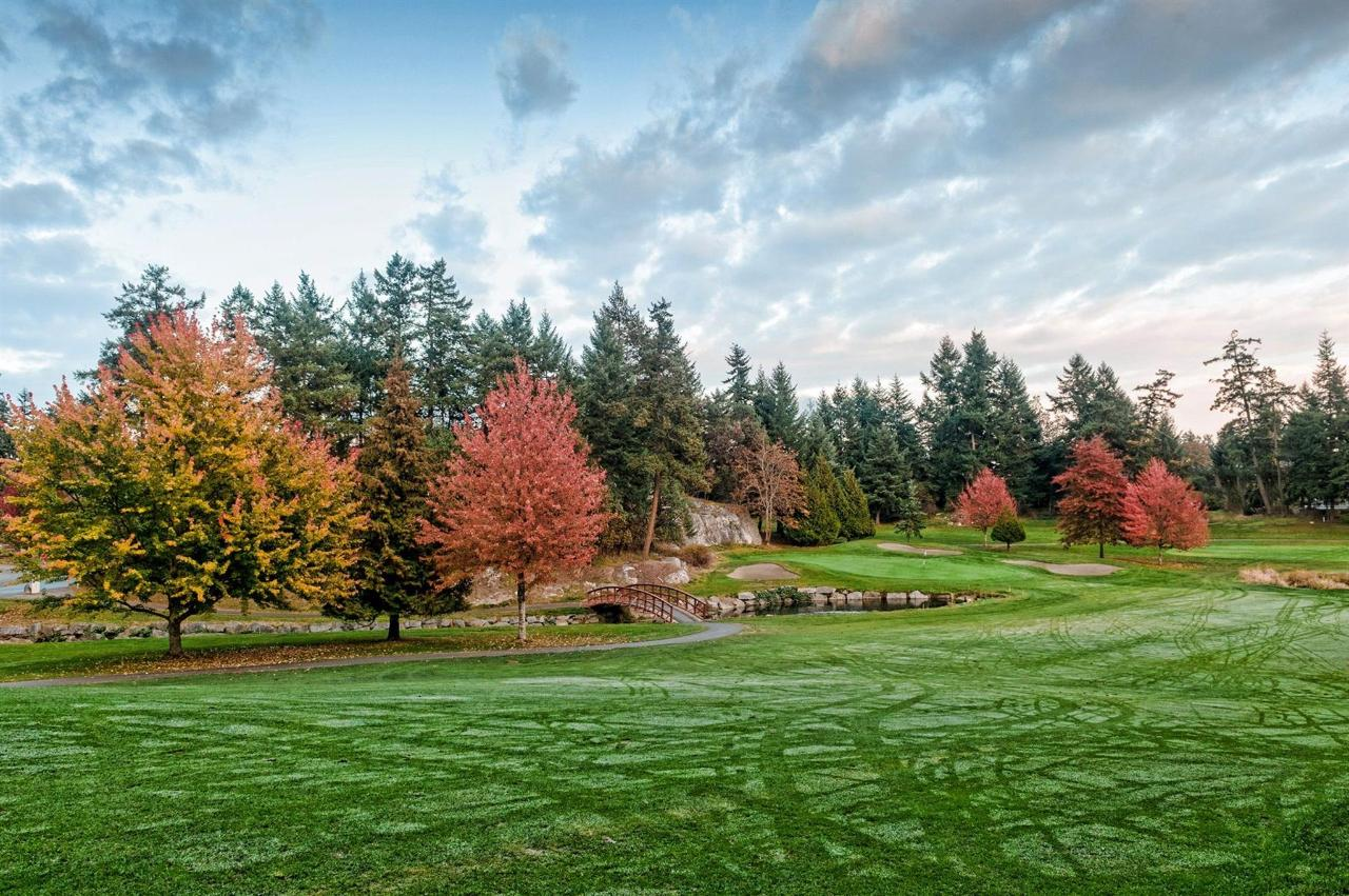 Vancouver Island  Fairwinds Golf Green Dew