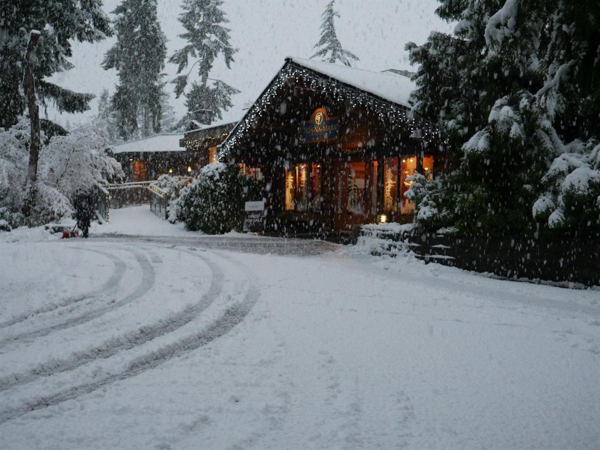Tigh-Na-Mara Oceanview Resort Winter Snow Checkin