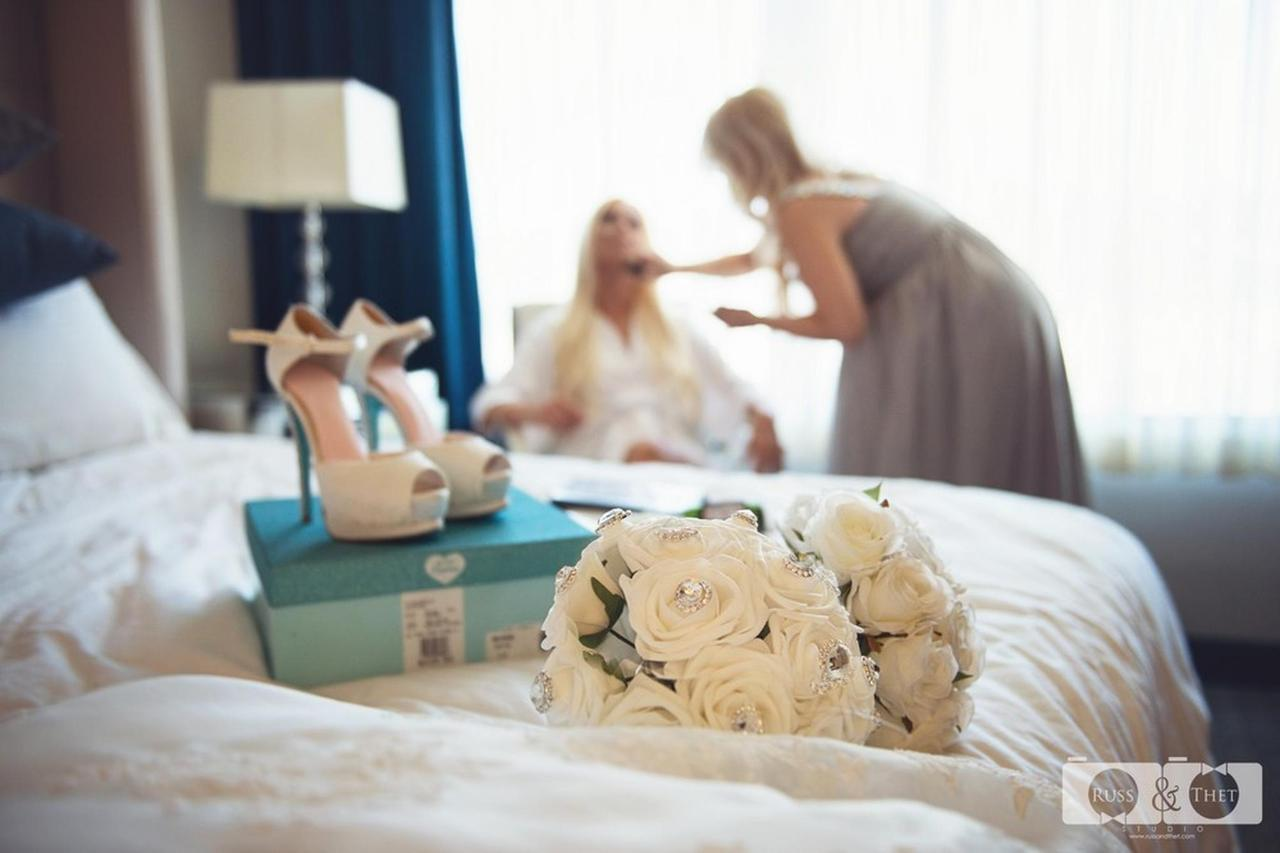 Bride Getting Ready inside Room