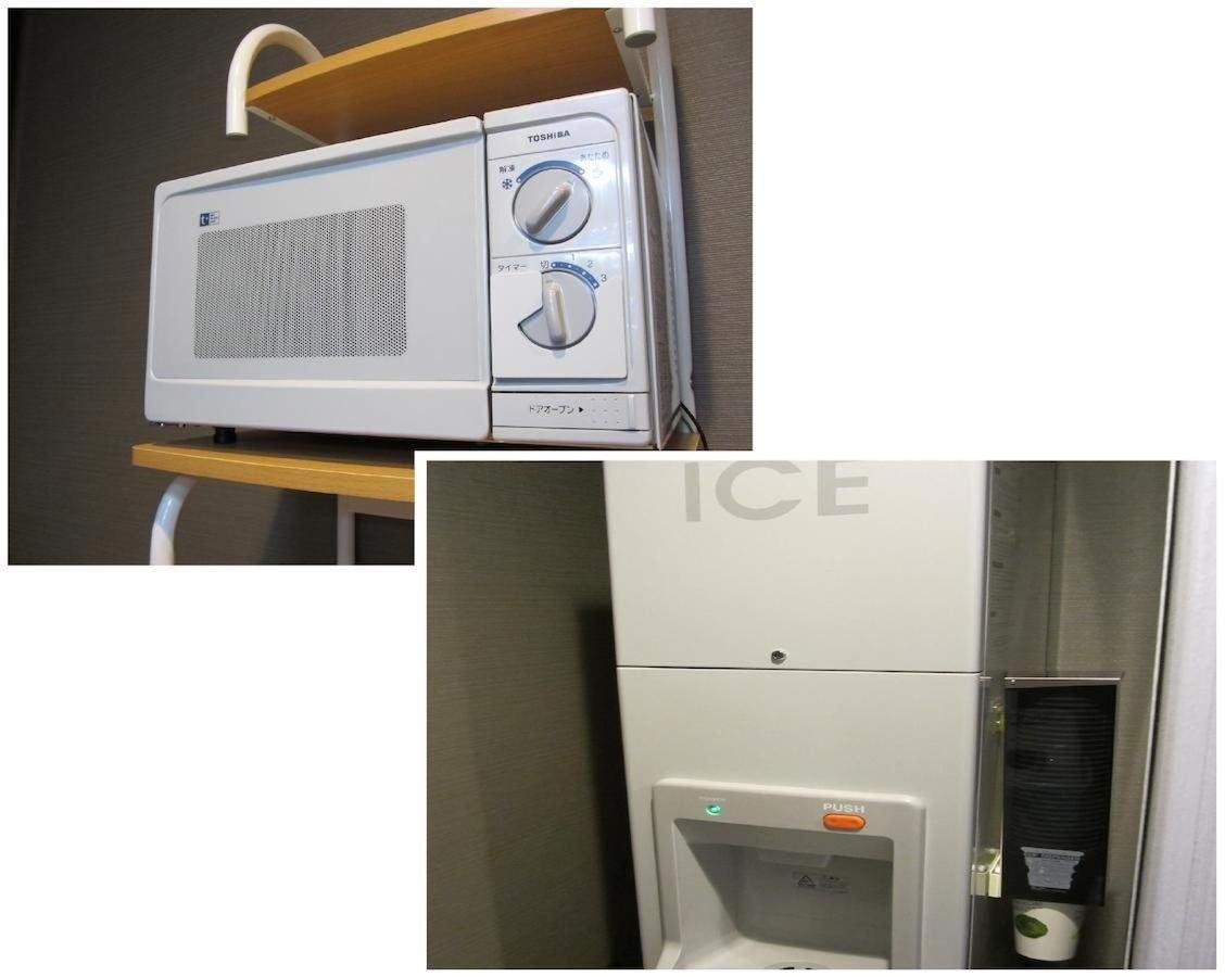 Microwave and ice maker
