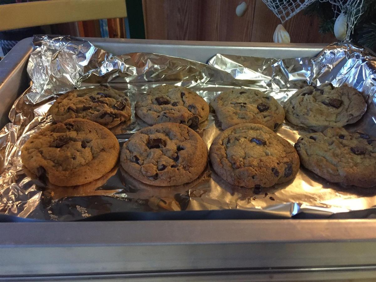 Fresh cookies on the weekends!