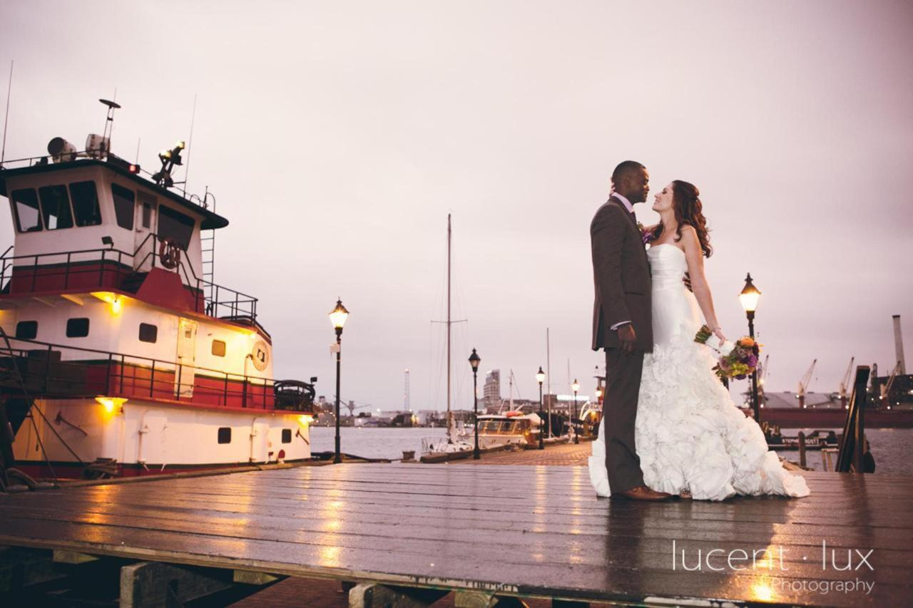 Admiral Fell Inn Bride and Groom Fells Point Pier Shot by Lucent Lux Photography.jpg