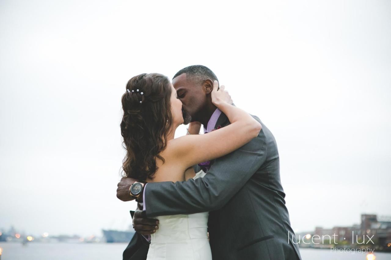 Admiral Fell Inn Bride and Groom First Kiss Shot by Lucent Lux Photography.jpg