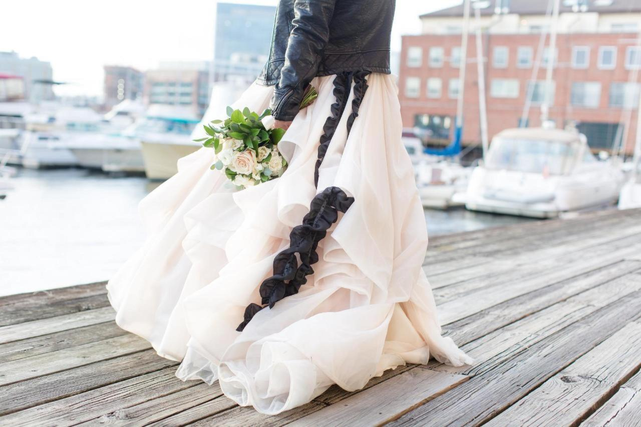 Admiral Fell Inn Bride Dress Detail on Henderson's Wharf Marina Shot by Amy and Jordan Photography.jpg