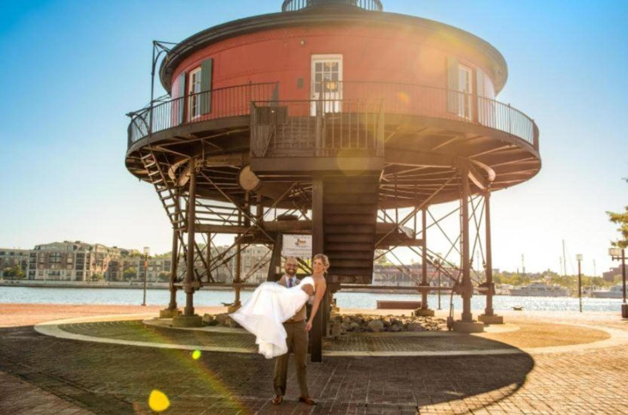 Pier 5 Hotel Bride and Groom Lighthouse Wedding Shot by Trans4mation Photography.jpg