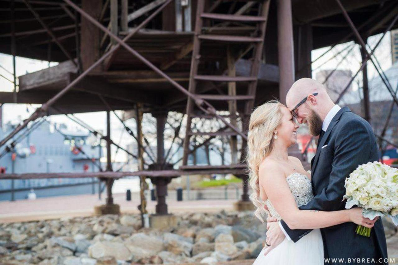 Pier 5 Hotel Bride and Groom Outdoor Lighthouse Close Up by Photography by Brea.jpg
