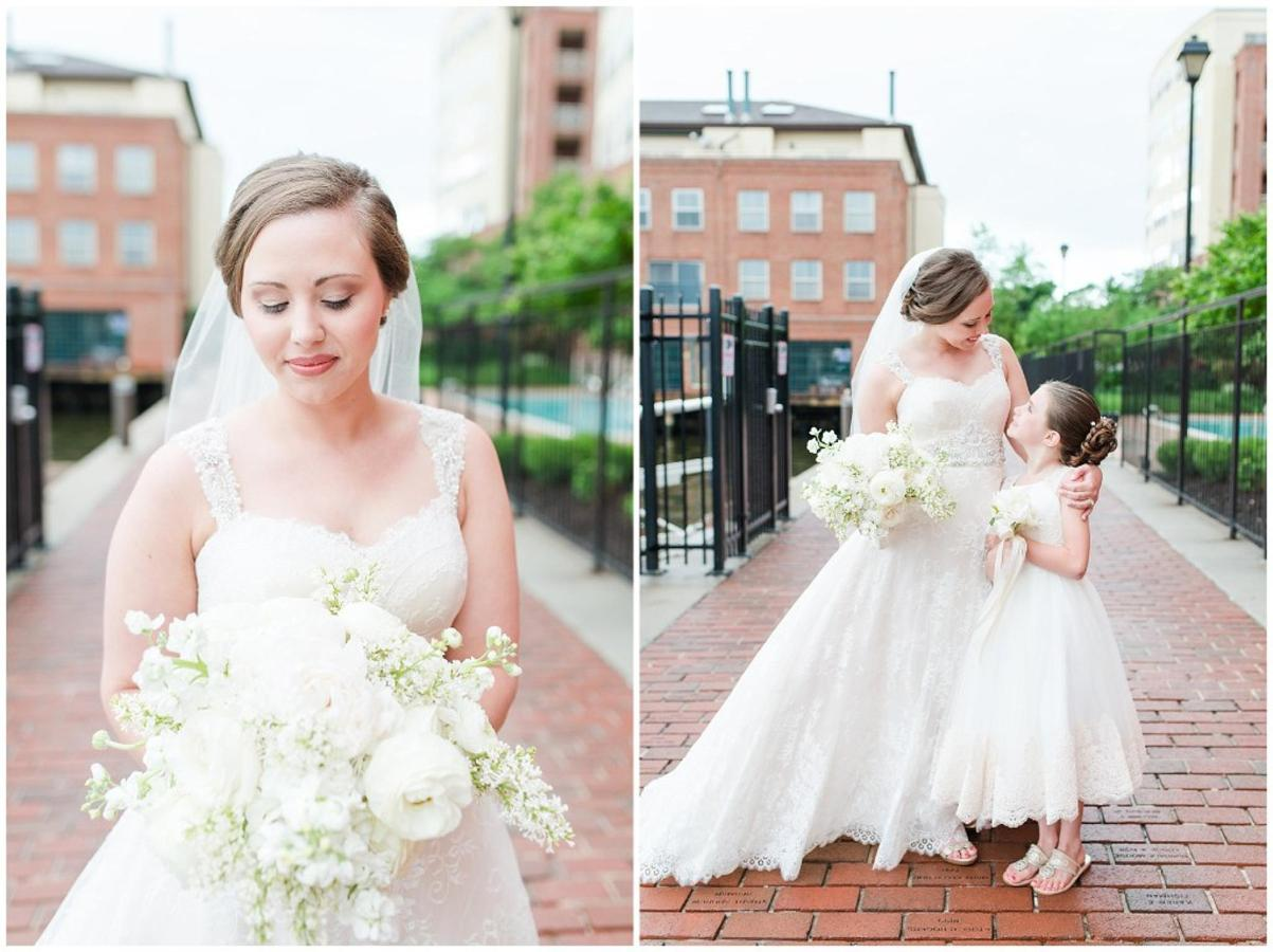 Henderson's Wharf Bride and Flower Girl Fells Point Photo Captured by Ashton Kelley Photography.jpg