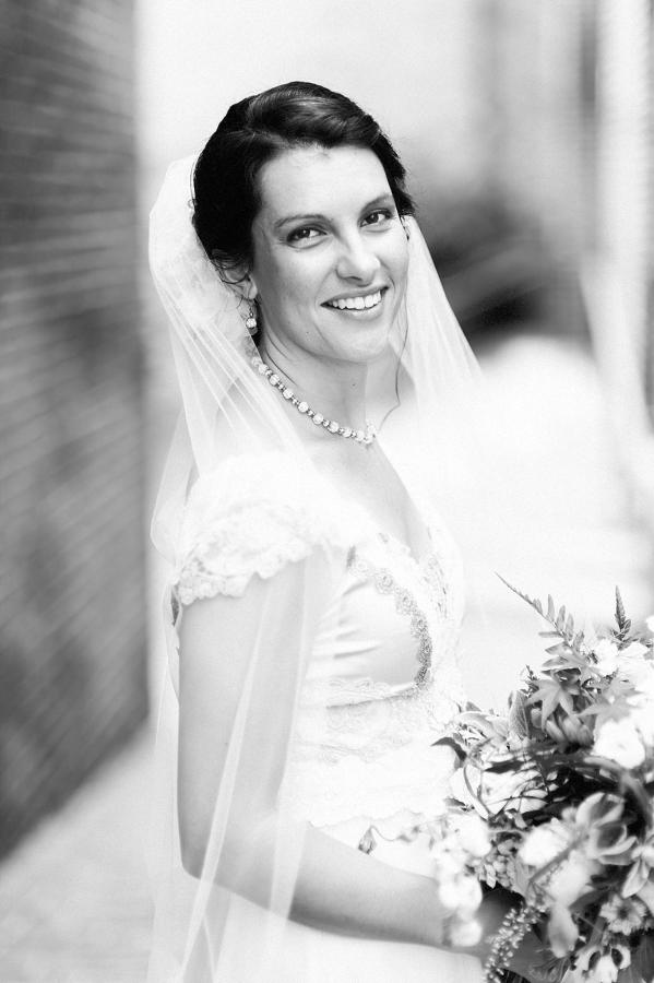 Henderson's Wharf Black and White Bride Photo Captured by Kirsten Marie Photography.jpg