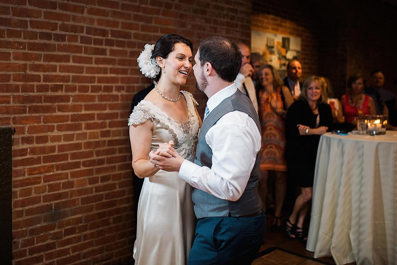 Henderson's Wharf Bride and Groom Dance 1 Captured by Kirsten Marie Photography.jpg