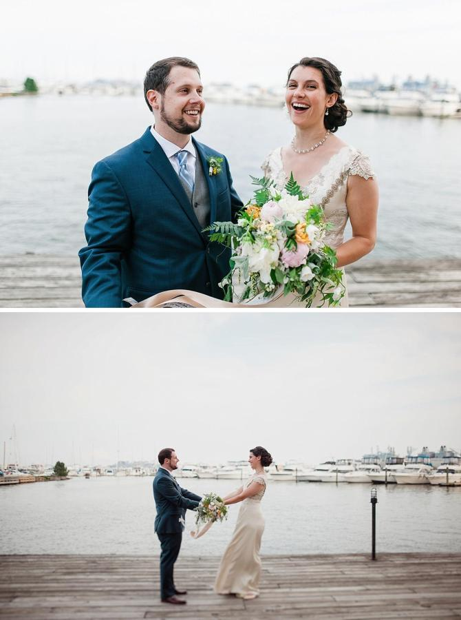 Henderson's Wharf Bride and Groom Waterfront Photo 1 Captured by Kirsten Marie Photography.jpg