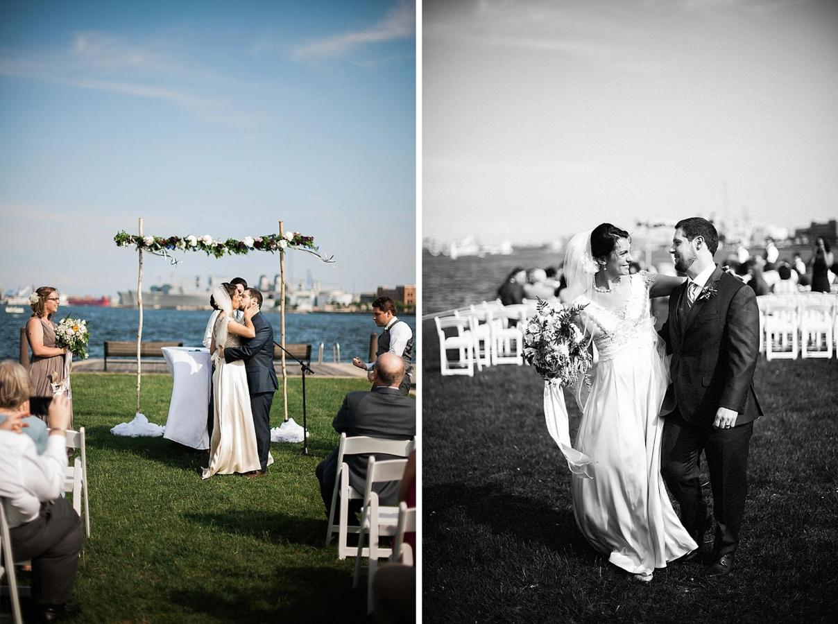Henderson's Wharf First Kiss and Ceremony Photo Captured by Kirsten Marie Photography.jpg