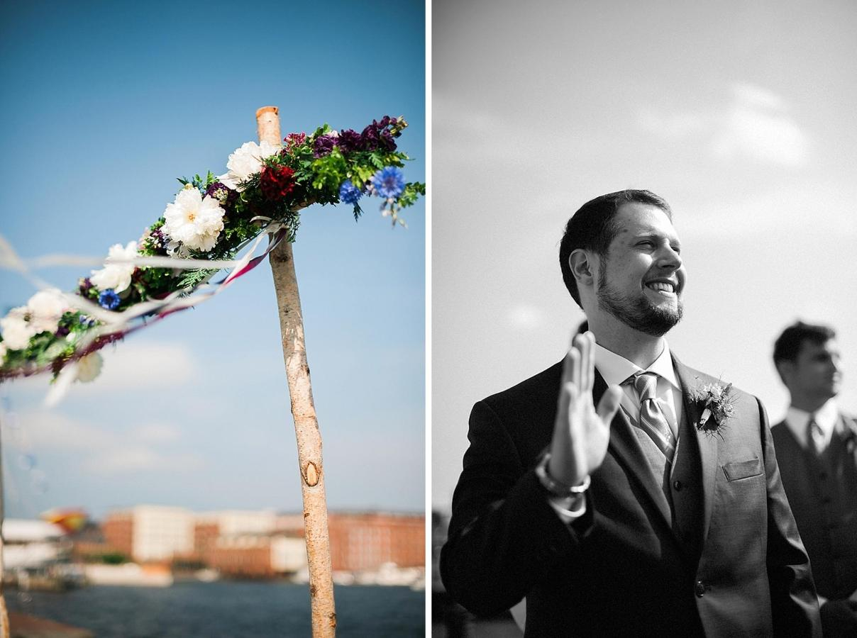 Henderson's Wharf Wedding Arch and Groom Photo Captured by Kirsten Marie Photography.jpg