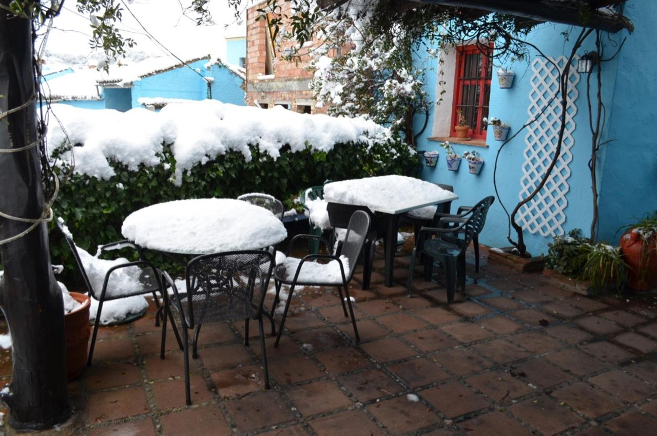 La Terraza nuestra cubierto en nieves, fue enero de 2017.