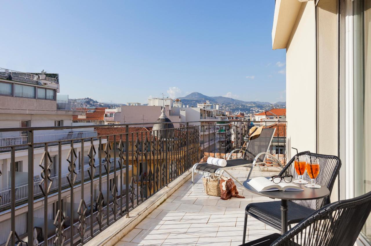 TerrasseChambre Deluxe Hotel La Malmaison Nice