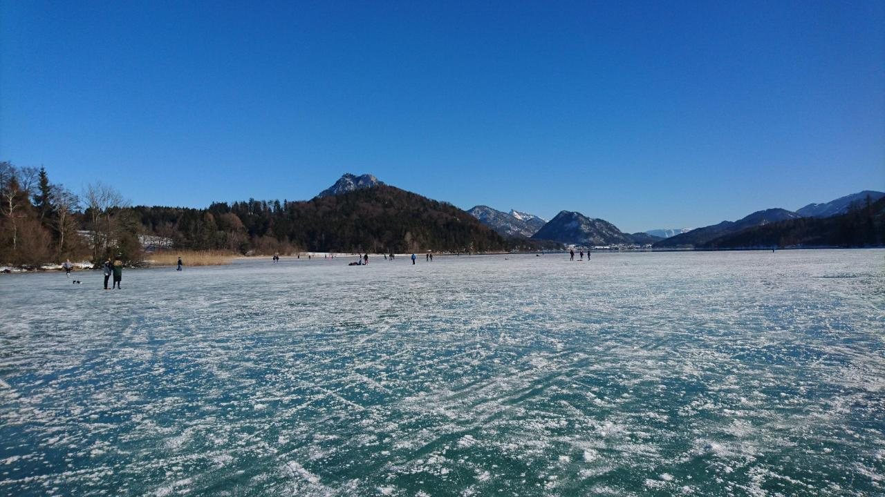 Ice skating on Lake Fuschl