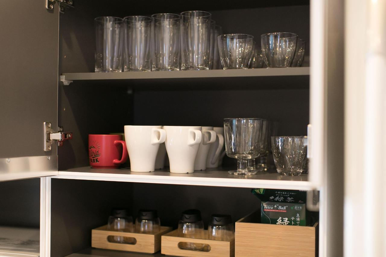 Shared kitchen(Cups and glasses)