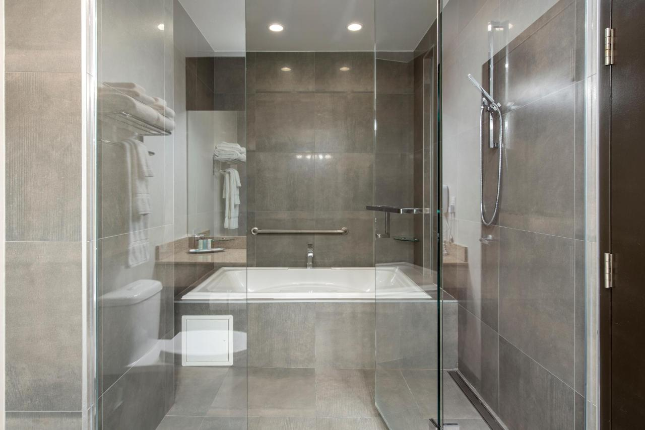 Executive Suite Walk-In Glass Shower and Tub
