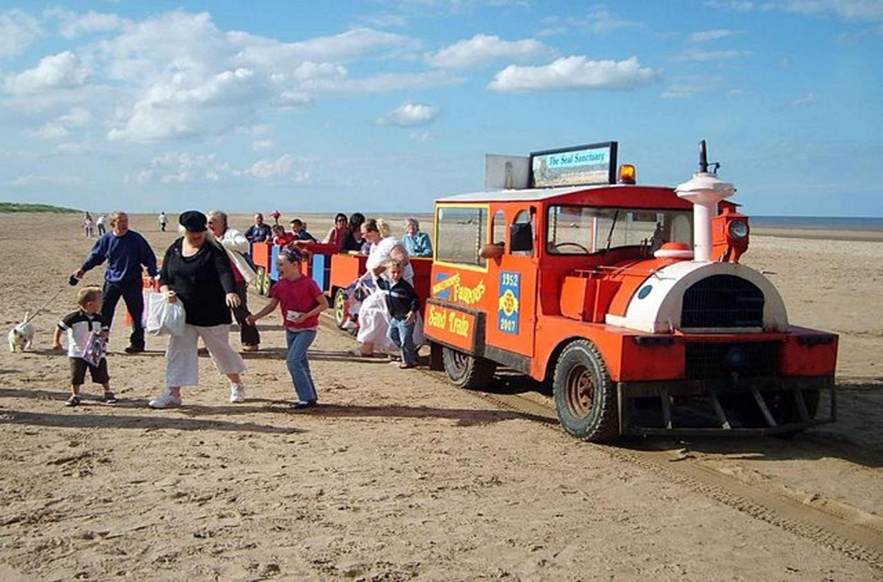 Sand Train on Mablethorpe Beach