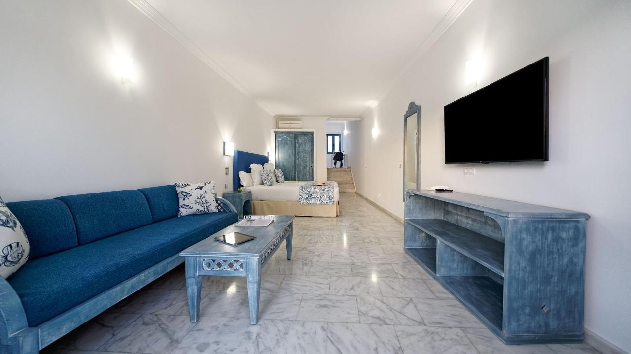 Studio Living room Lounge TV Sleeping area Bed Igramar Morro Jable
